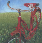 Bike Drawings - Caroles Bike by Arlene Crafton