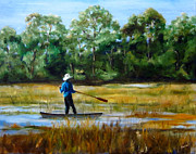 Man Paintings - Carolina Cove by Diane Kraudelt