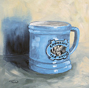 Carolina Painting Originals - Carolina Tar Heel Coffee Cup by Torrie Smiley