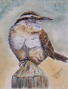 Sitting At The Feeder Posters - Carolina Wren Poster by Richard Goohs