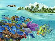 Coral Carnival Print by Carolyn Steele