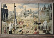 Caron Framed Prints - Caron, Antoine 1521-1599. The Massacre Framed Print by Everett