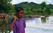 Black Boy Prints - Caroni Chennette Print by Colin Bootman