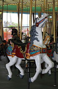 Roller Coaster Photos - Carousel At Santa Cruz Beach Boardwalk California 5D23634 by Wingsdomain Art and Photography