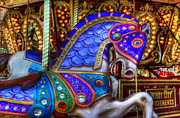 Carousel Horse Framed Prints - Carousel Beauty Prancing Framed Print by Bob Christopher