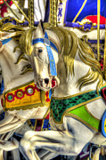 Amusement Ride Framed Prints - Carousel Charger Framed Print by Wayne Sherriff