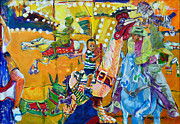 Carousel Painting Originals - Carousel Dreams by Charles M Williams