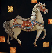 Carousel Painting Originals - Carousel Horse by Gerry High