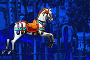 Gunter Nezhoda Framed Prints - Carousel Horse Framed Print by Gunter Nezhoda