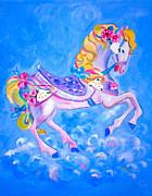 Carousel Horse Print by Harlene Bernstein