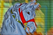 Carousel Horse Red Bridle Print by Thomas Woolworth