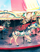 Chicago Digital Art Metal Prints - Carousel Horse Metal Print by Suzanne Barber