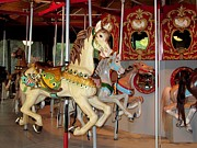 Handcrafted Art - Carousel Horses by Annie Zeno