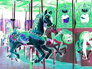 Handcrafted Art - Carousel Horses II by Annie Zeno