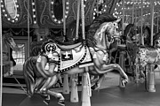 Carrousels Prints - CAROUSEL in BLACK AND WHITE 3 Print by Rob Hans