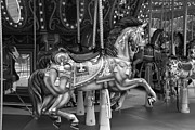 Carrousels Prints - CAROUSEL in BLACK AND WHITE Print by Rob Hans