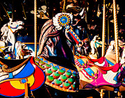 Black Stallion Posters - Carousel In Black Poster by Sonja Quintero