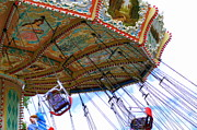Child Swinging Digital Art - Carousel in Motion by Sue Lyon-Myrick