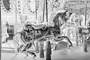Carrousels Prints - CAROUSEL in NEGATIVE Print by Rob Hans