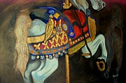Merry-go-round Painting Originals - Carousel by John Stevens