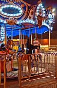 Thrill Digital Art - Carousel oil by Steve Harrington
