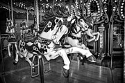 Carousel Horse Framed Prints - Carousel Race Framed Print by Spencer McDonald