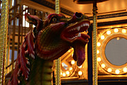 Slay Framed Prints - Carousel Red Dragon -1 Framed Print by Renee Anderson