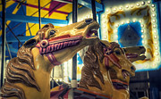 Amusement Park Prints - Carousel Print by Scott Norris