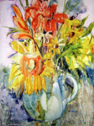 Florida Flowers Painting Prints - Carpe Diem Print by Kris Parins