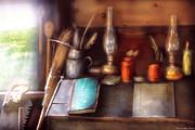Carpenter - In A Carpenter's Workshop  Print by Mike Savad