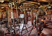 Steam Punk Metal Prints - Carpenter - This old shop Metal Print by Mike Savad