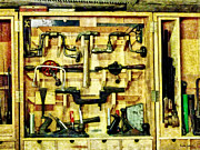 Yellow Hammer Posters - Carpenter - Woodworking Tools Poster by Susan Savad