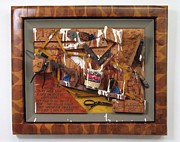 Two By Two Mixed Media Framed Prints - Carpenters Lament Framed Print by Bill Czappa