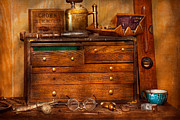 Drawers Metal Prints - Carpentry - Tools - In my younger days  Metal Print by Mike Savad