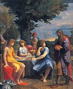 Table Cloth Metal Prints - Carracci Ludovico, Abraham Metal Print by Everett