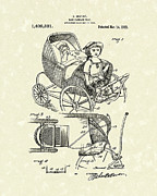 Seat Drawings - Carriage Seat 1922 Patent Art by Prior Art Design