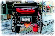 Carriage Tours  Print by Barbara Chichester