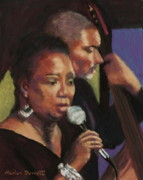 Jackson Pastels Prints - Carrie Jackson at Salem Roadhouse Cafe Print by Marion Derrett
