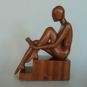 One Of A Kind Sculpture Prints - Carried Away Print by Jakob Wainshtein