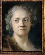 Self-portrait Photos - Carriera Rosalba, Self-portrait, 1746 by Everett