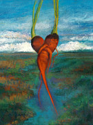 Vegetables Paintings - Carrot Dance by Laurie VanBalen