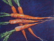 Featured Pastels Posters - Carrot Stack Poster by Kelley Smith