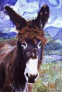 Donkey Mixed Media Prints - Carrot Top Print by Pat Saunders-White