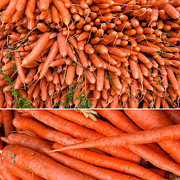 Vegetables Art - Carrots at a Market by Sabine Jacobs