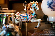 Pony Framed Prints - Carrousel Pony Framed Print by Christopher Holmes