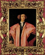 Young Man Framed Prints - Carrucci Jacopo Know As Pontormo Framed Print by Everett