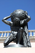 Bronce Metal Prints - Carry the Earth - Atlas at the Ringling Museum Metal Print by Christiane Schulze