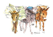 Donkey Prints - Carrying The Load Print by Kathleen McElwaine