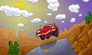 Pixar Digital Art - Cars Cartoon by Edward Pollick