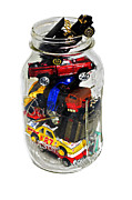 Susan Leggett Photo Acrylic Prints - Cars in a Jar Acrylic Print by Susan Leggett